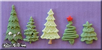 Billede af Alphabet moulds juletræ, 5 str.